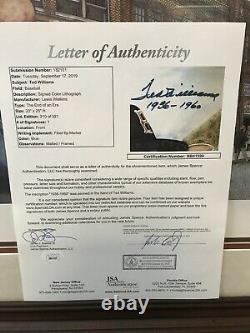 Ted Williams Signed Autographed 33x29 End of An Era Lithograph LE /521 JSA LOA