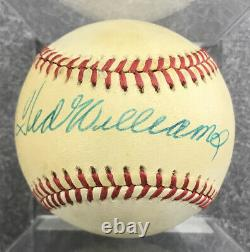 Ted Williams Signed Autographed AL Baseball Sweet Spot AUTO, PSA/DNA LOA