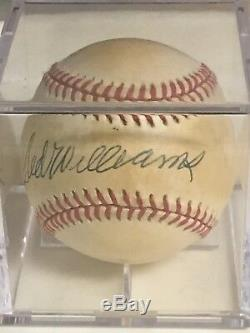 Ted Williams Signed Autographed Americn League Baseball Upper Deck Authenticated