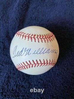 Ted Williams Signed Autographed Baseball Boston Red Sox Hall of Fame