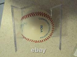Ted Williams Signed Autographed Baseball Jsa Certified Boston Red Sox With Cube