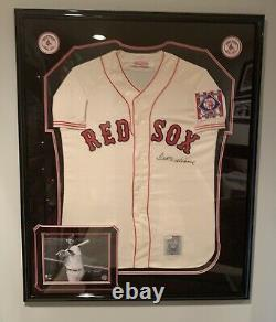 Ted Williams Signed Autographed Framed Mitchell & Ness Boston Red Sox Jersey