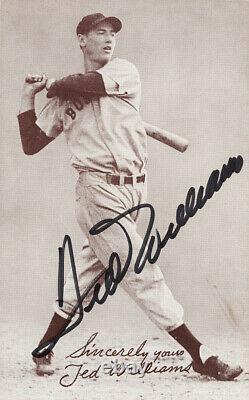 Ted Williams Signed Autographed Photo Card JSA