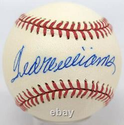 Ted Williams Signed Baseball 9 (OAL Brown) 614540 JSA LOA (full)