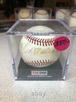 Ted Williams Signed Baseball PSA/DNA
