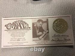 Ted Williams Signed Bat Famous Players Series Cooperstown Bat Co with COA