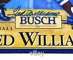 Ted Williams Signed Busch Beer 15 x 20 Color Poster Red Sox JSA Auto DA027888