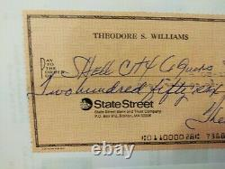 Ted Williams Signed Check. LOP from Claudia Williams. Beautiful clear signature