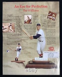 Ted Williams Signed Gartlan Ceramic Figurine Red Sox Splendid Splinter Auto HOF