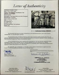 Ted Williams Signed Photo 16x20 Joe DiMaggio Autograph HOF +2 Yankees Redsox JSA