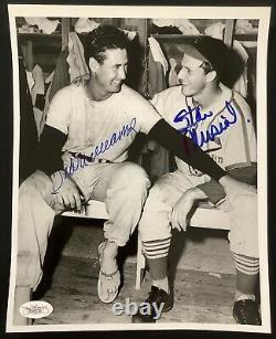 Ted Williams Signed Photo 8x10 Baseball Stan Musial Autograph Red Sox HOF JSA