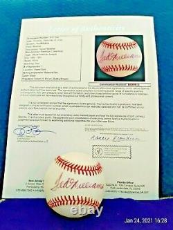 Ted Williams Signed Rawlings Baseball JSA LOA Red Sox HOF