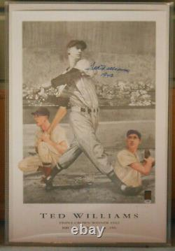 Ted Williams Signed Triple Crown Poster