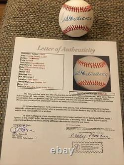 Ted Williams Single Signed Baseball Autographed AUTO JSA LOA Boston Red Sox HOF