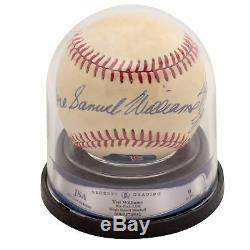 Ted Williams The Splendid Splinter Full Name Signed Baseball JSA MINT 9
