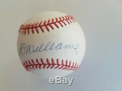 Ted Williams Uda Signed Baseball Upper Deck
