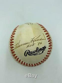 Ted Williams Willie Mays Stan Musial Harmon Killebrew Signed Baseball JSA COA