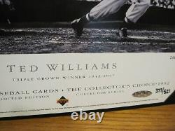 Ted Williams athenticate autographed photo certified by Upper Deck