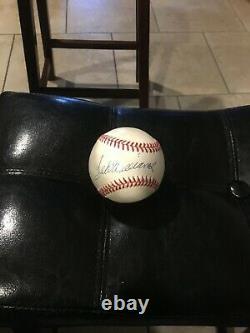 Ted Williams signed Bobby Brown baseball Upper Deck Hologram