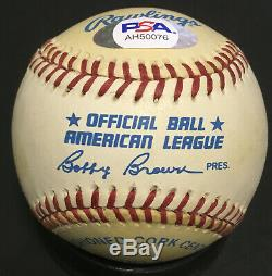Ted Williams signed Official AL Baseball Mint Autograph HOF PSA/DNA LOA RED SOX