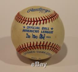 Ted Williams signed autographed vintage baseball! RARE! Guaranteed Authentic