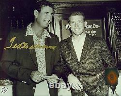 Ted Williams with Mantle Signed Auto Autographed Ball Photo Green Diamond COA Holo