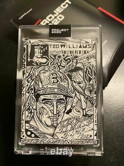 Topps Project 2020 #9 Ted Williams by JK5 with Box