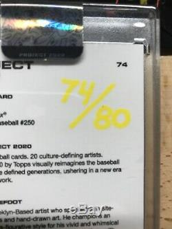 Topps Project 2020 Ted Williams Card #74 Efdot Artist Auto Signed 74/80
