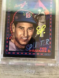 Topps Project 2020 Ted Williams Efdot Artist Autographed Signed Card 74 Auto /80