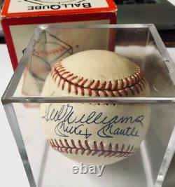 Triple Crown 500 HR Club Mickey Mantle Ted Williams Signed Autographed Baseball