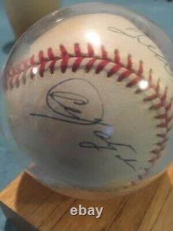 Triple Crown signed baseball Mantle Ted Williams Yastrzemski Robinson COA