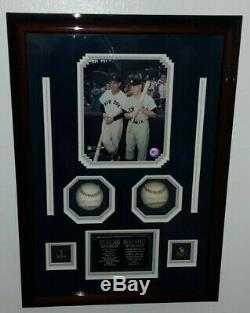 UDA Mickey Mantle Ted Williams Signed Upper Deck Authenticated Baseball Framed