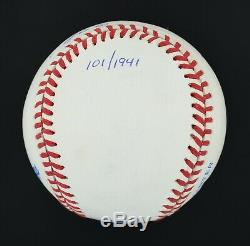 UDA Ted Williams. 406 Signed Autographed OAL Baseball PSA/DNA Graded NM 7