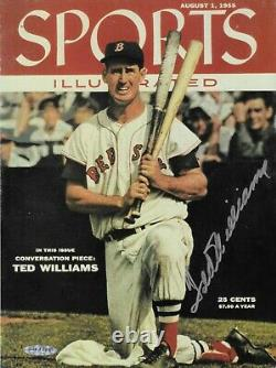 UDA Ted Williams Signed SI Cover Boston Red Sox Upperdeck Unframed folder