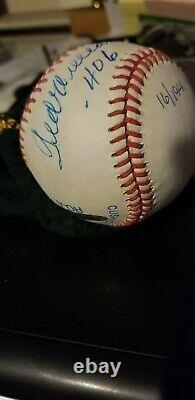 Uda Ted Williams Ss Signed Baseball. 406 Inscription 16/1941 Oal Ball Autograph