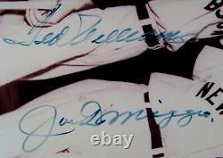 VERY RARE! Joe DiMaggio & Ted Williams Signed Autographed Baseball Photo PSA LOA