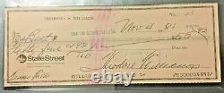 Vintage Ted Williams Signed Personal Check PSA/DNA Encapsulated & Graded MINT! 9