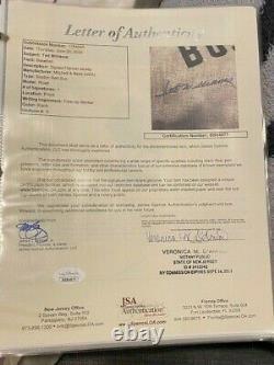 Wonderful Ted Williams Signed Mitchell & Ness 1939 Boston Red Sox Jersey JSA